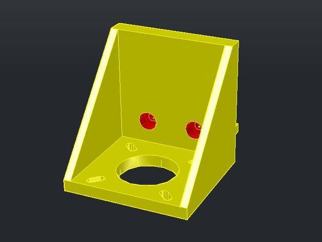 2020 NEMA17卧式支座 3D模型  图1