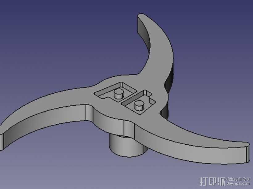 Printrbot 打印机进料轮 3D模型  图1
