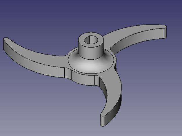 Printrbot 打印机进料轮 3D模型  图3