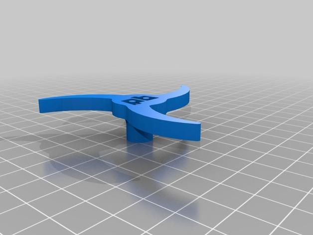 Printrbot 打印机进料轮 3D模型  图2