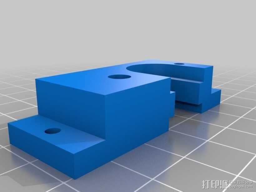 E3D V6 挤出机安装座 3D模型  图3