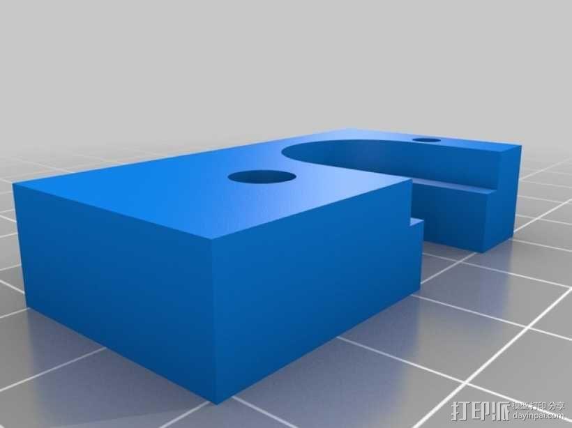 E3D V6 挤出机安装座 3D模型  图7