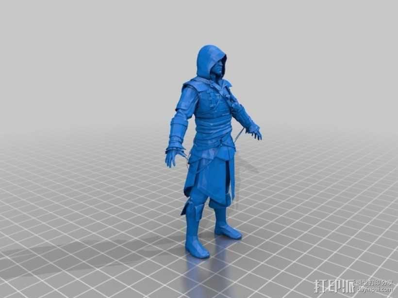 刺客信条黑旗:爱德华·肯维 3D模型  图1