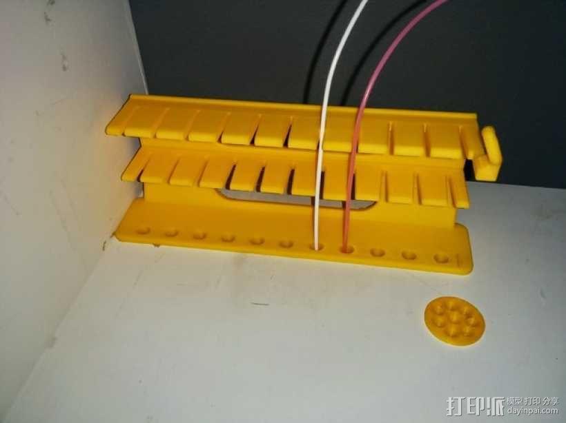 线轴架 组合式导线器 3D模型  图4