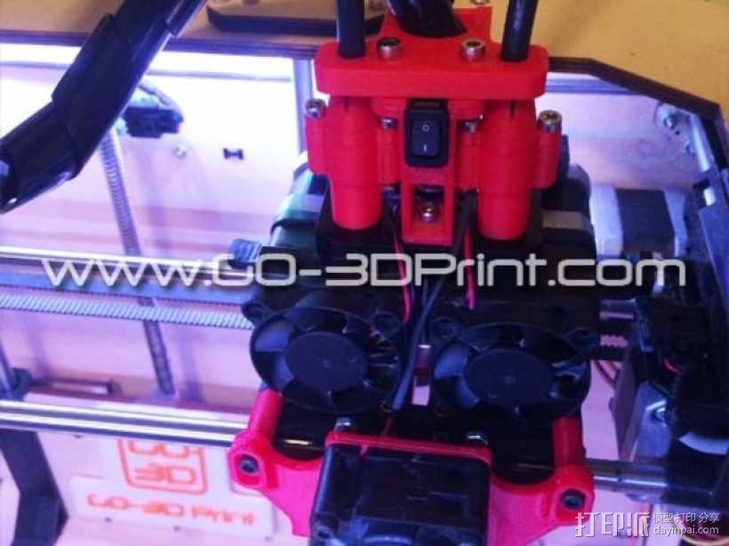 打印机散热装置 3D模型  图1