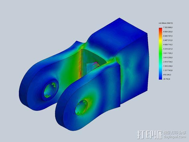 Prusa i3打印机X轴惰轮 3D模型  图10