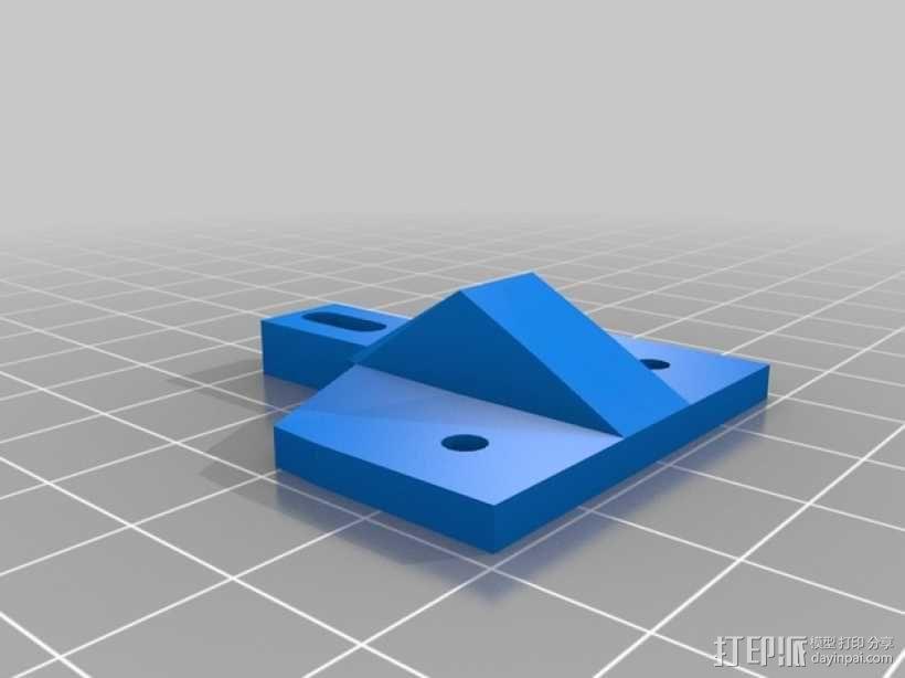 Kossel打印机顶部线轴架 3D模型  图4
