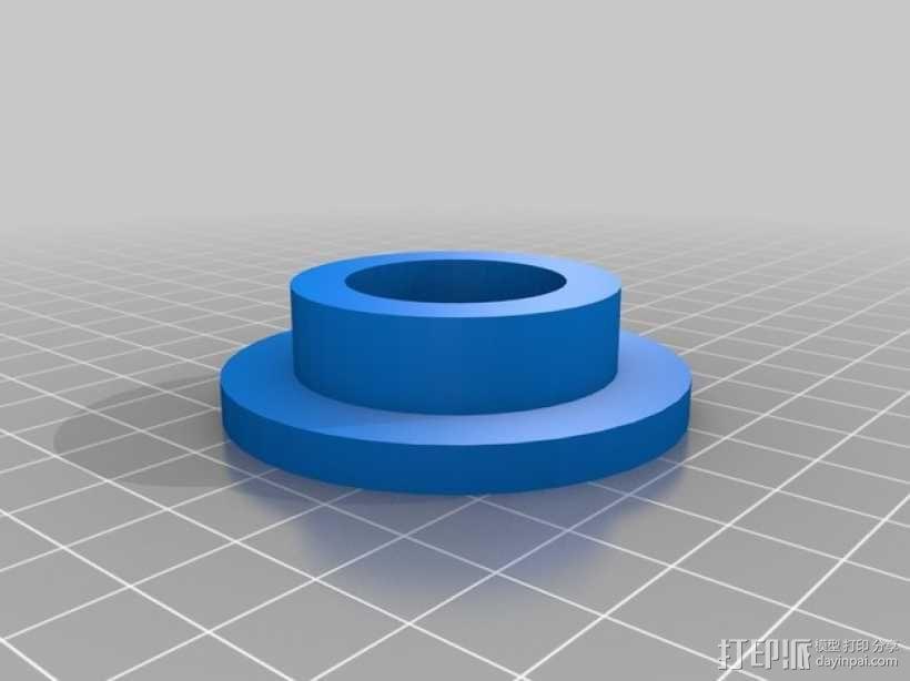Kossel打印机顶部线轴架 3D模型  图3
