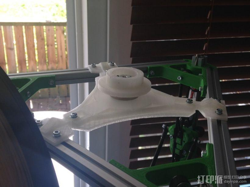 Kossel打印机顶部线轴架 3D模型  图7