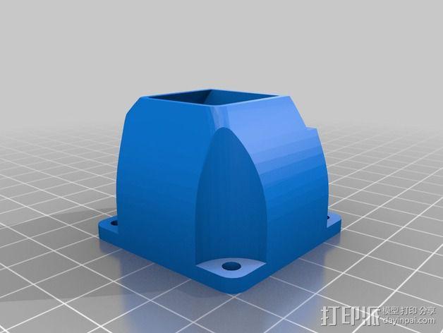 挤出机外框 3D模型  图2