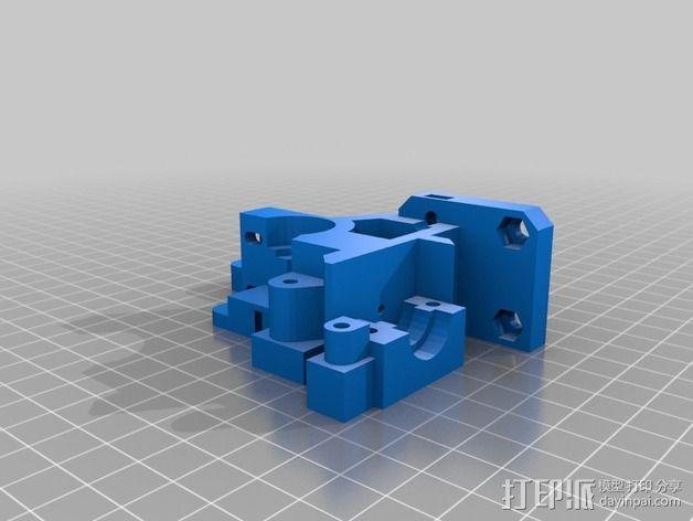 挤出机外框 3D模型  图3
