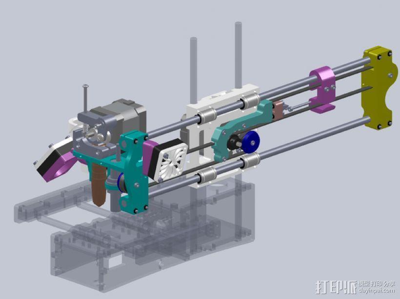 No Sag打印机 3D模型  图1