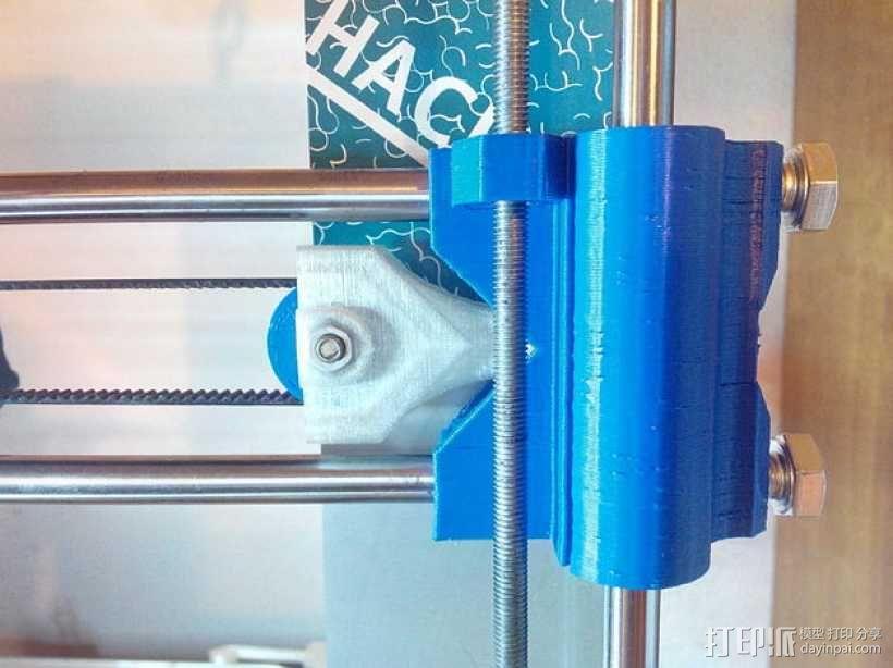 Prusa i3打印机X轴皮带张紧器 3D模型  图1