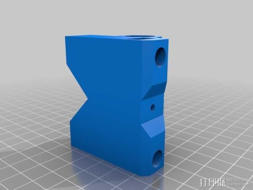 Prusa i3打印机X轴皮带张紧器 3D模型  图5