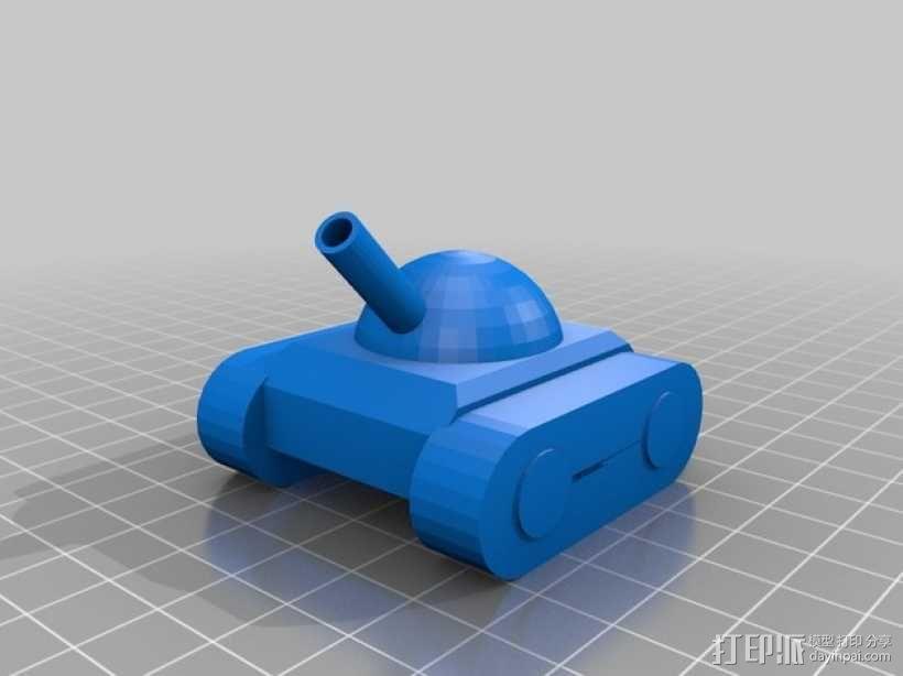 玩具坦克 3D模型  图1