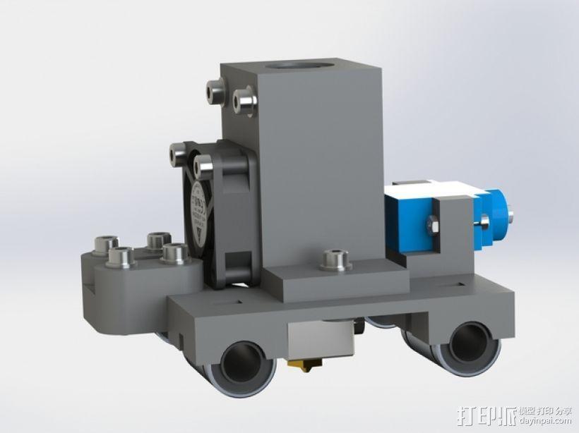 Prusa i2挤出机装置 3D模型  图4