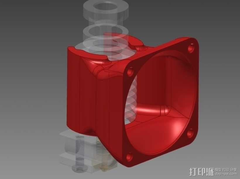 挤出机风扇导管 3D模型  图1