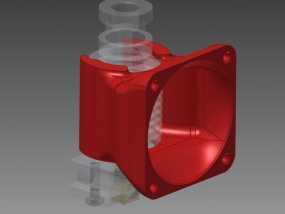 挤出机风扇导管 3D模型