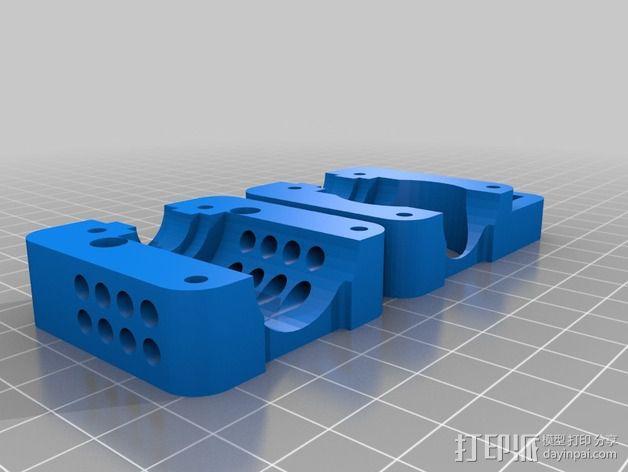 Bowden 挤出机架 3D模型  图3