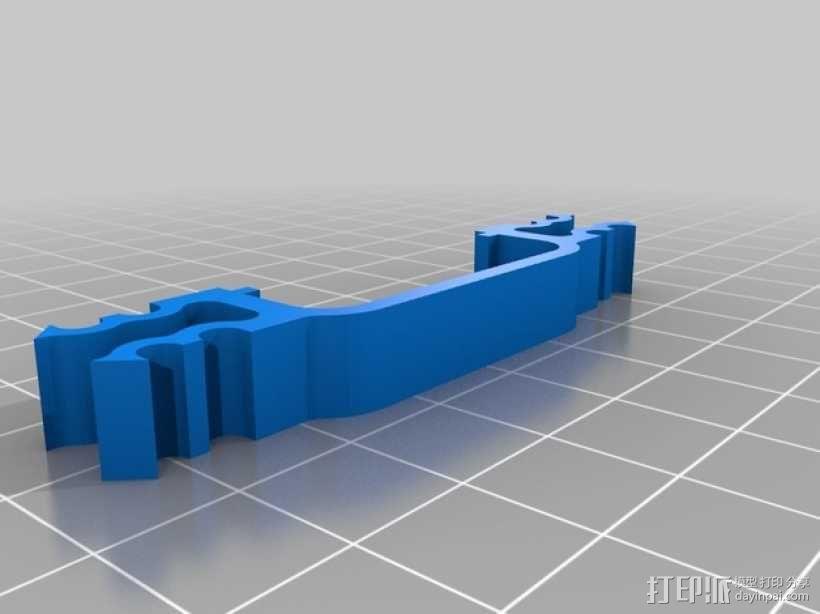 四轴支撑架 3D模型  图2