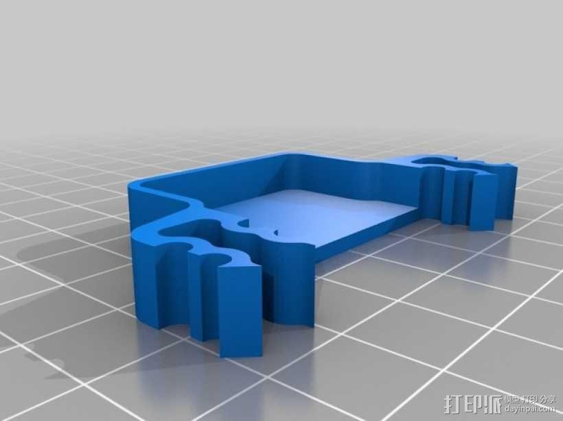 四轴支撑架 3D模型  图4