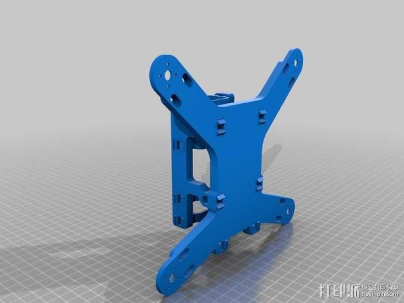 四轴支撑架 3D模型  图6
