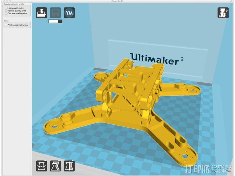 四轴支撑架 3D模型  图8