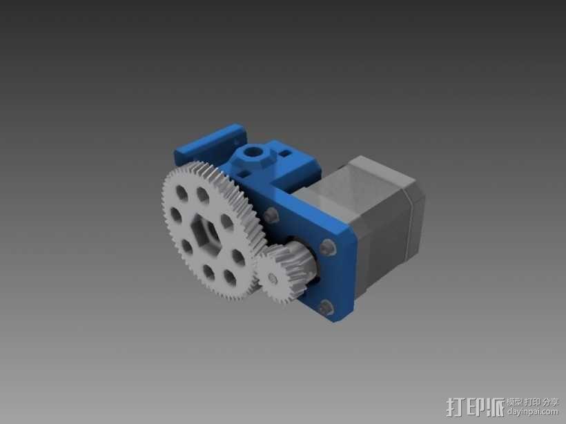 齿轮挤出机 3D模型  图1