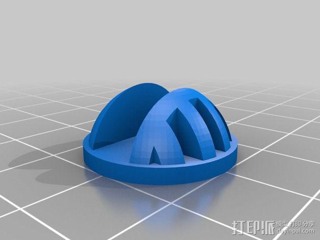 Prusa i3打印机隔振器 3D模型  图3