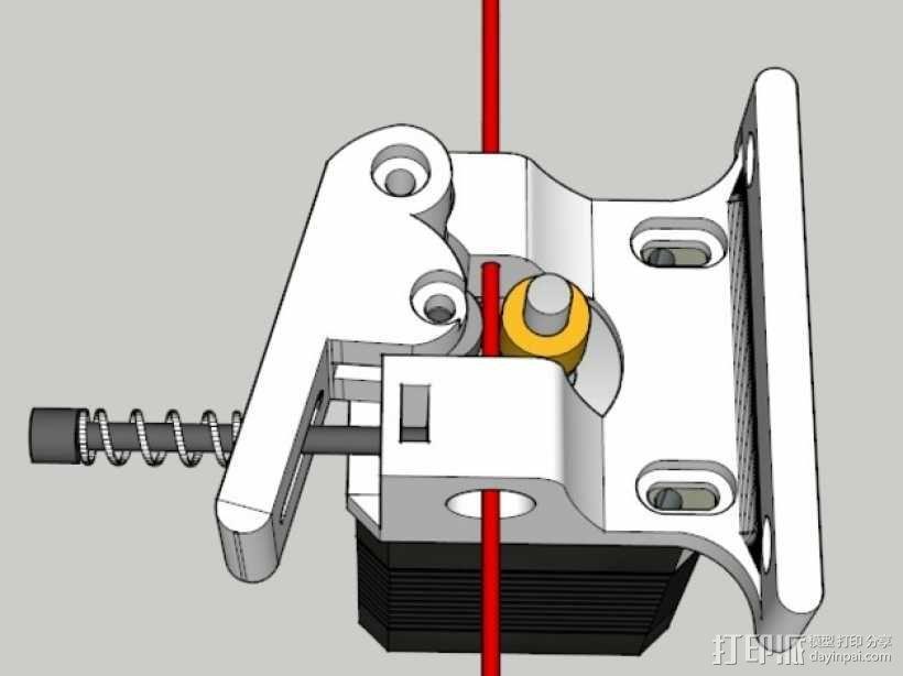 Bowden鲍登直线挤出机 3D模型  图5