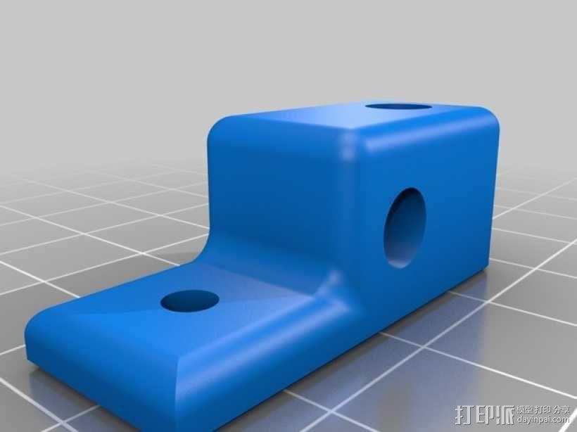 Mini Kossel打印机线轴架 3D模型  图2