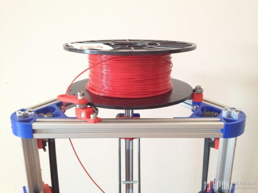 Mini Kossel打印机线轴架 3D模型  图1