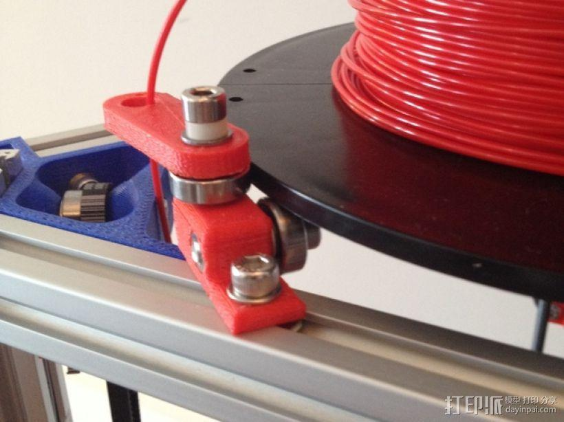 Mini Kossel打印机线轴架 3D模型  图3