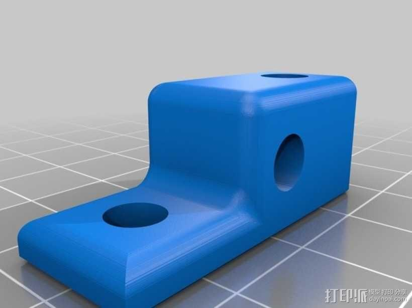 Mini Kossel打印机线轴架 3D模型  图4