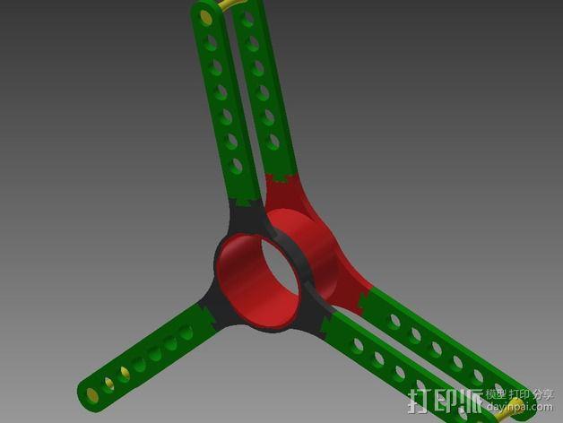可调节松紧度的卷线轴 3D模型  图2