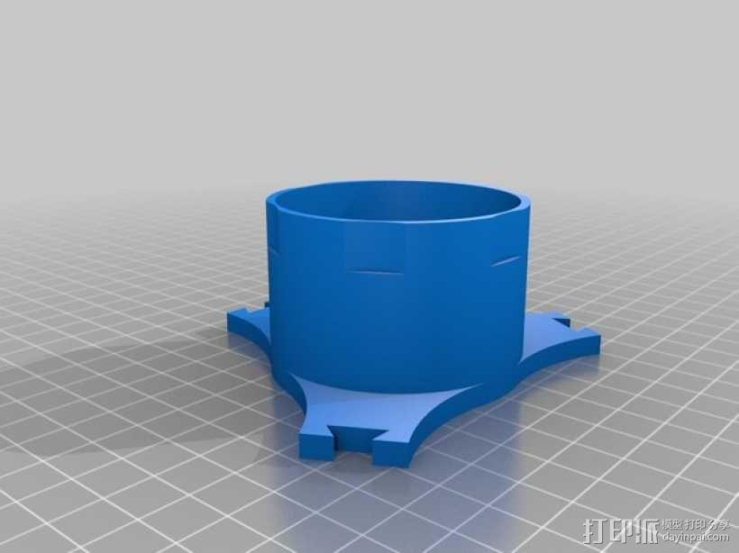 可调节松紧度的卷线轴 3D模型  图5