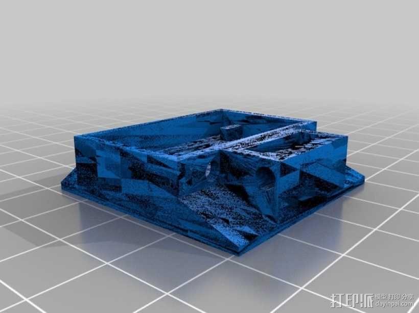 XYZ Da Vinci 3D 打印机墨盒计数器 3D模型  图2