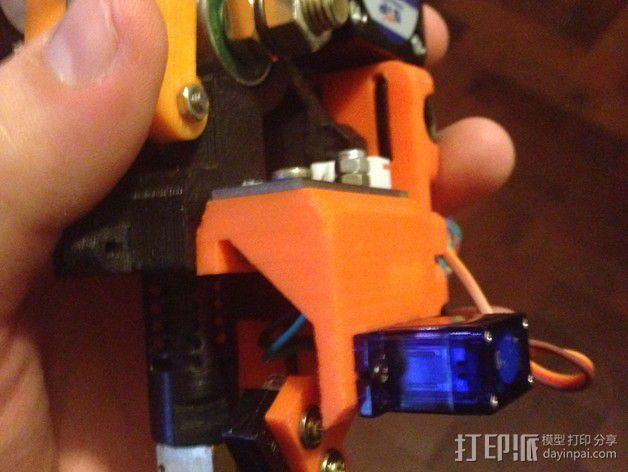 Prusa i3 打印头高度调节器 3D模型  图2