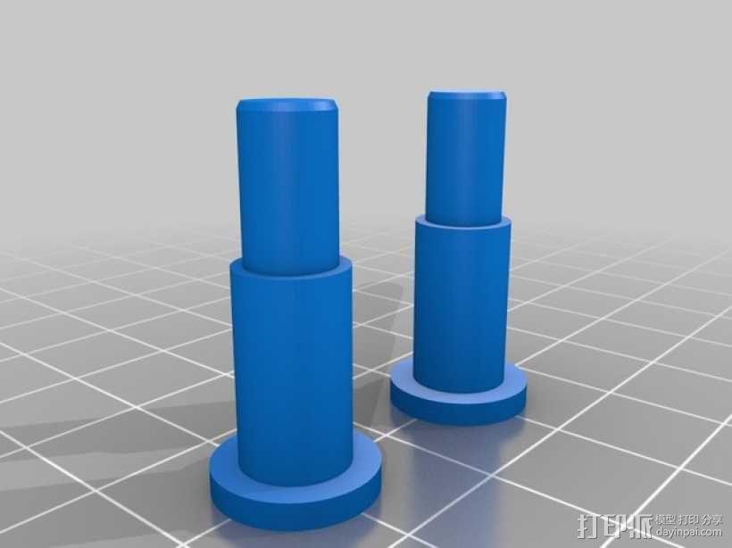 3D打印线材架 线轴架 3D模型  图3