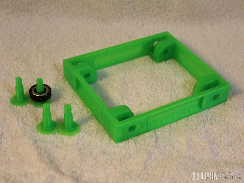 3D打印线材架 线轴架 3D模型  图2