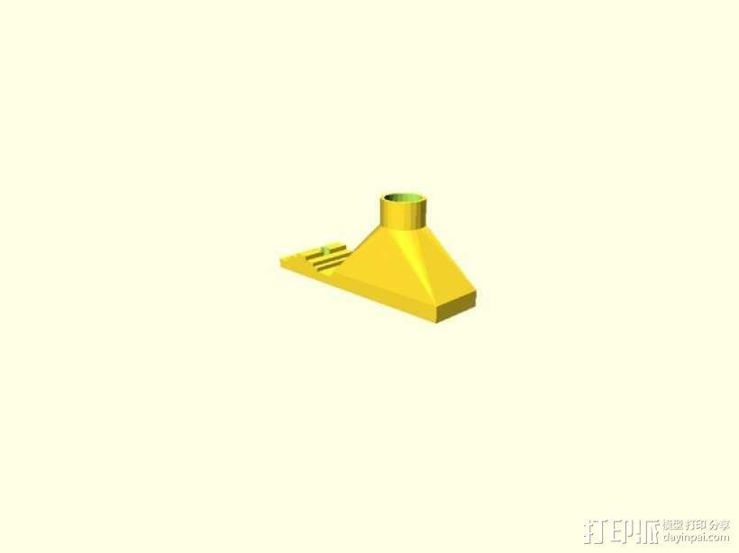 可弯曲喷嘴通风导管 3D模型  图4