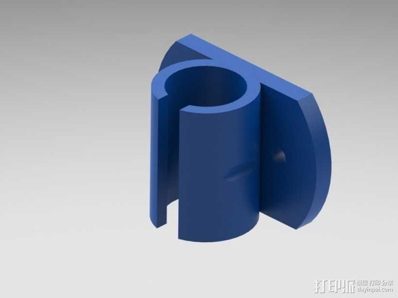 LM8uu轴承套管 3D模型  图1