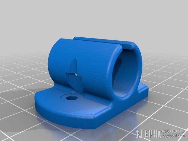 LM8uu轴承套管 3D模型  图2