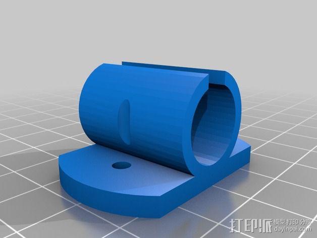 LM8uu轴承套管 3D模型  图3