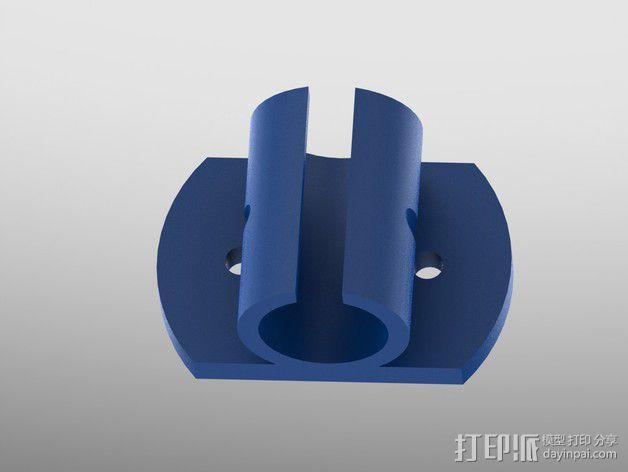 LM8uu轴承套管 3D模型  图4