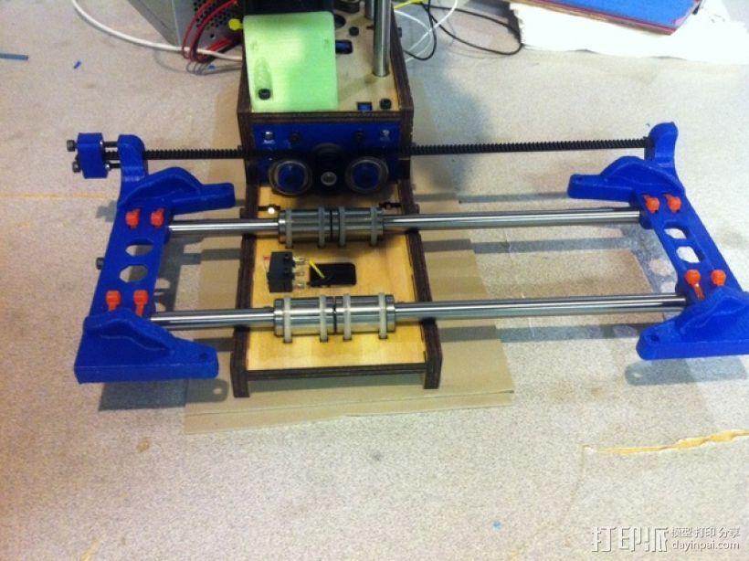 Printrbot打印机X轴部件 3D模型  图1