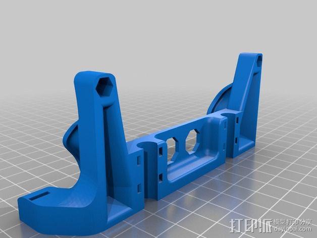 Printrbot打印机X轴部件 3D模型  图2