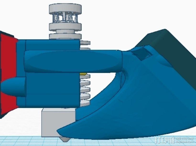 风扇架 打印喷头固定架 3D模型  图6