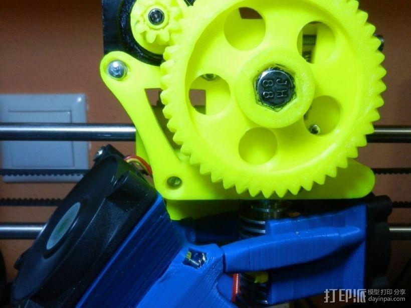 风扇架 打印喷头固定架 3D模型  图3