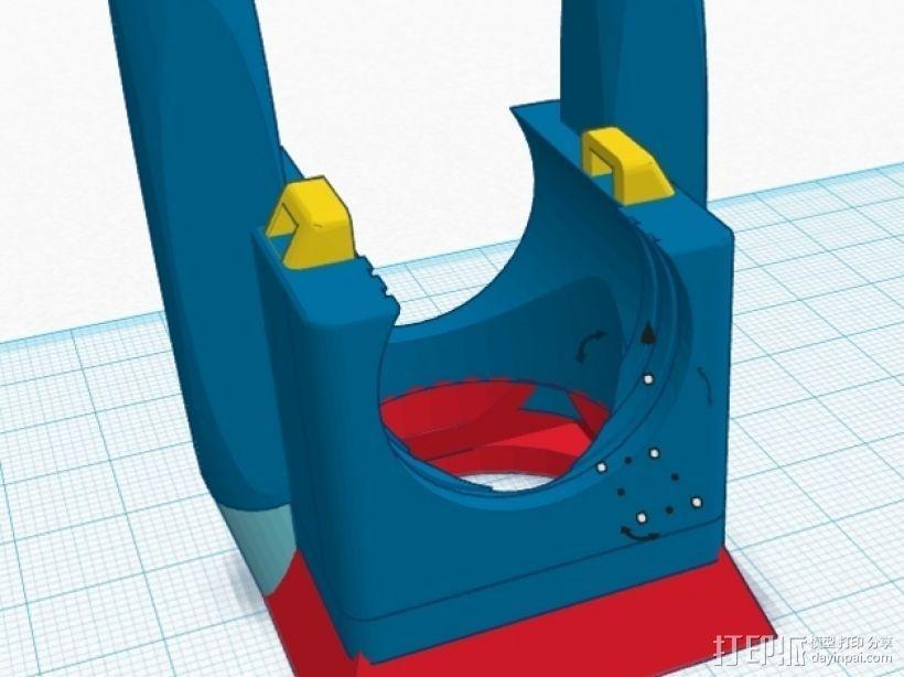 风扇架 打印喷头固定架 3D模型  图5